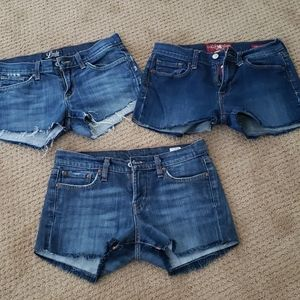 Bundle of lucky brand cut off shorts size 4.